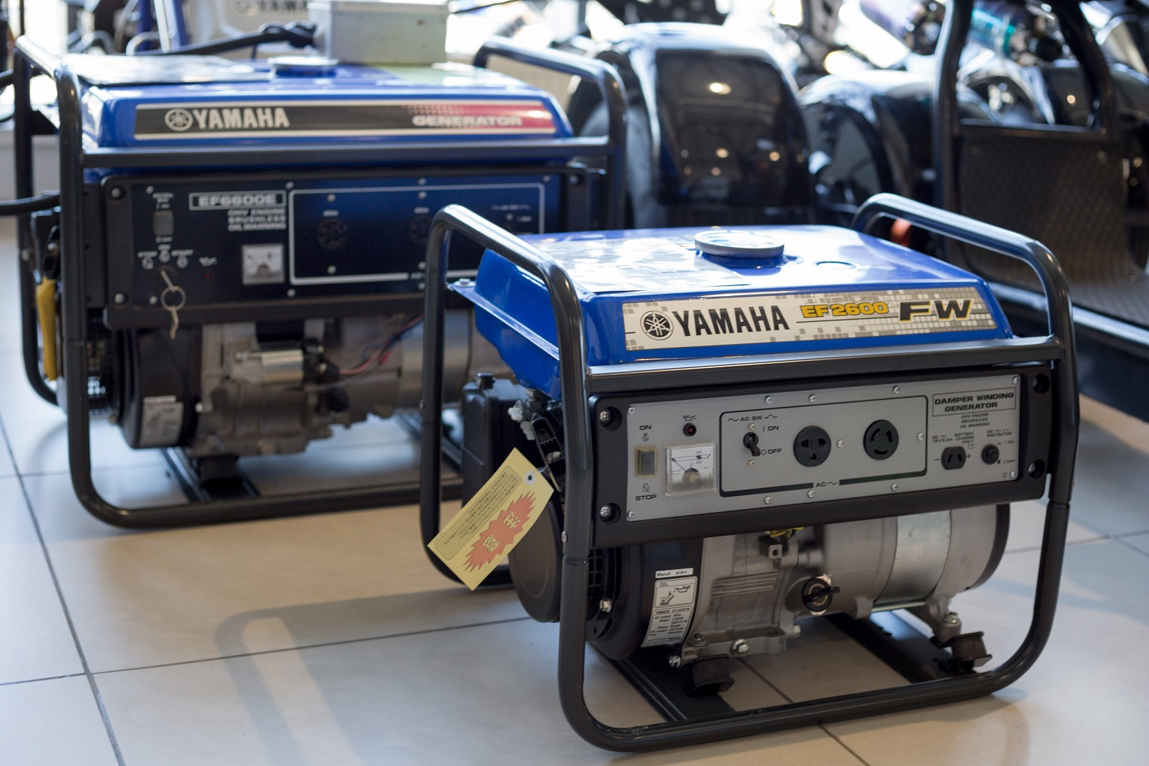 2 Blue yamaha Generators